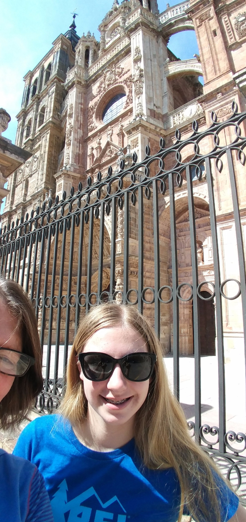 Guadi Palace, Grand Cathedral and the Camino Santiago de Compestela in Astorga, Spain.