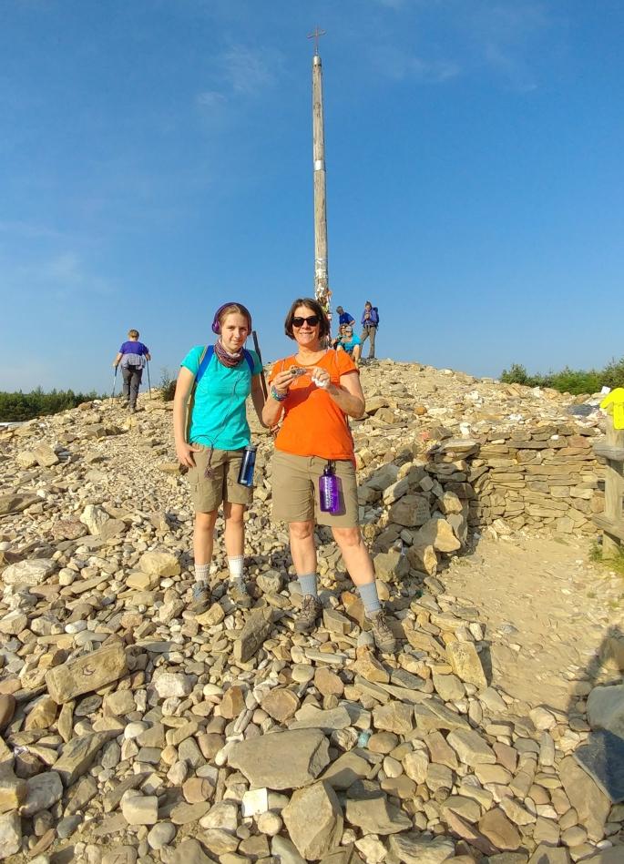 Mother and Daughter at Cruz de Ferro