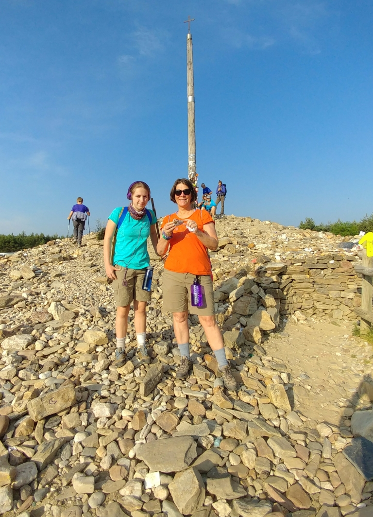 Mother and Daughter at Cruz de Ferro