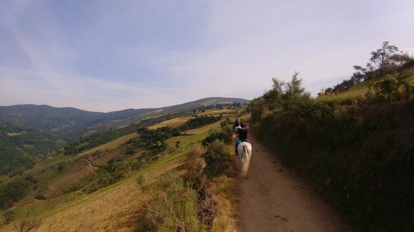 Horseback riding on the Camino Santiago