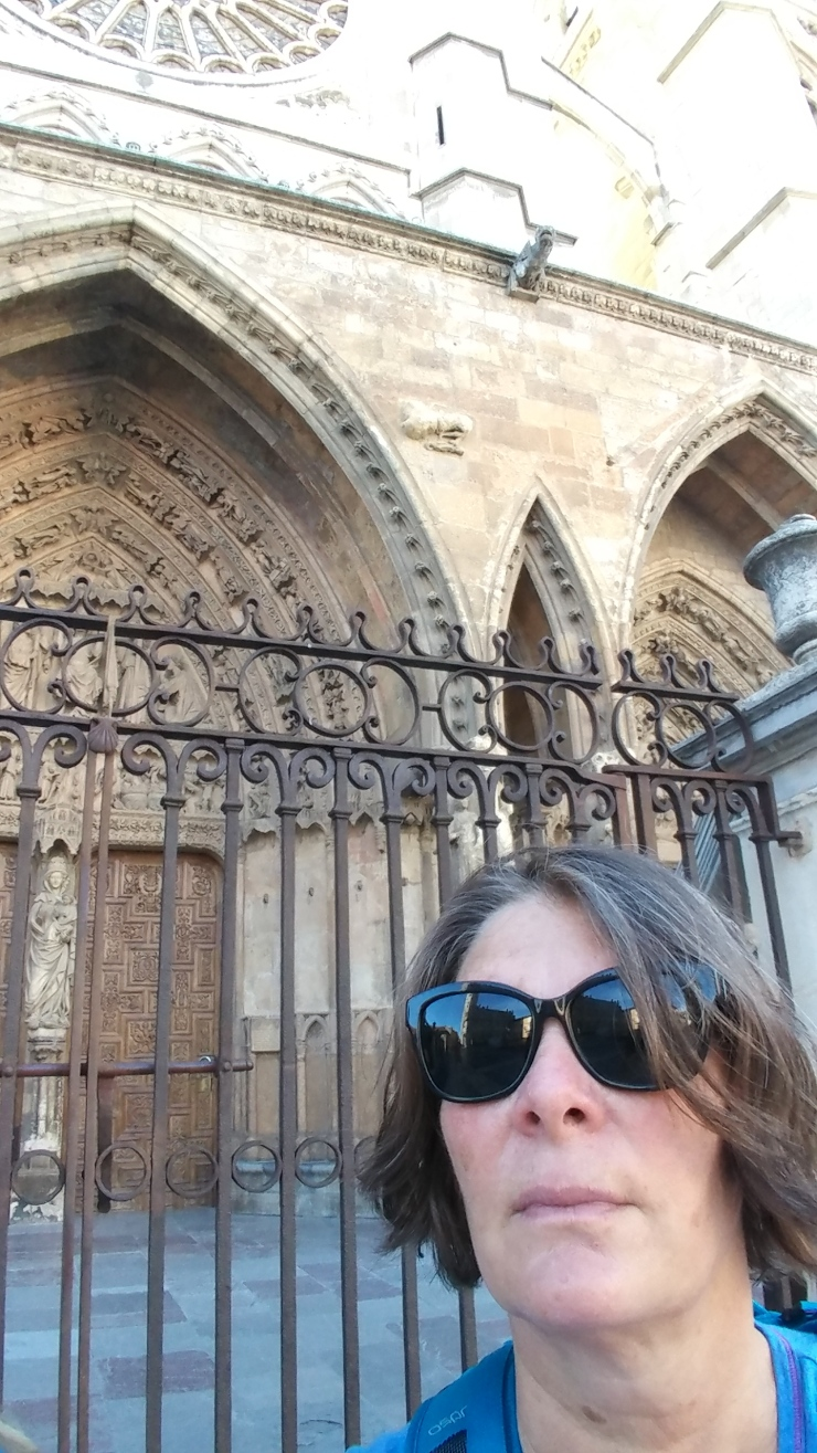 Author in front of Cathedral
