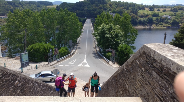 Camino /Bridge into Portomarin.