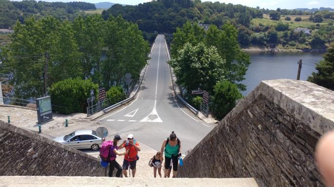 Camino /Bridge into Portomarin.