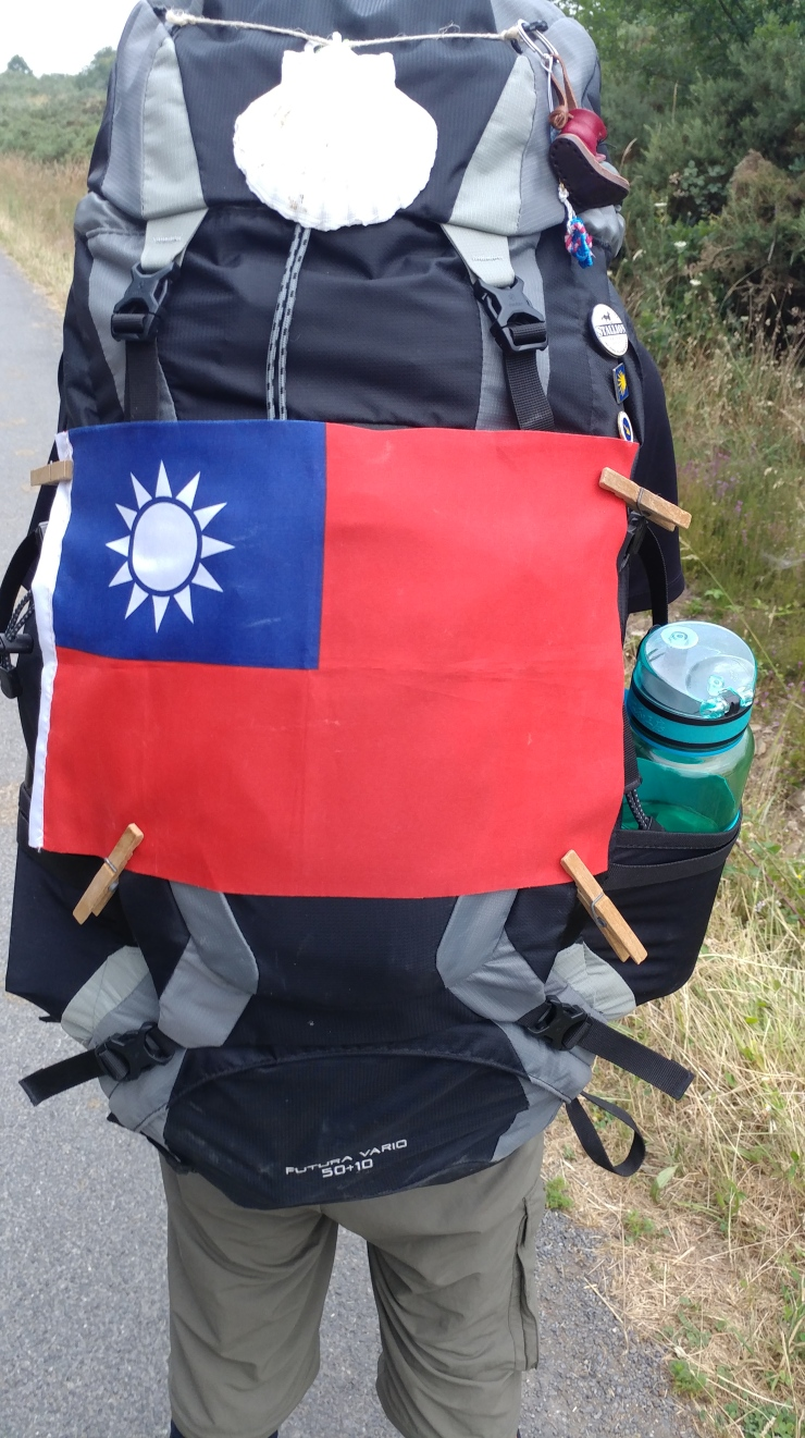 Pilgrim with flag from China